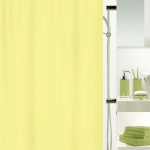Spirella Textil Duschvorhang Primo light yellow