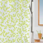 Spirella Folien Duschvorhang Blatt light green